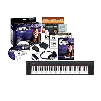 Amazon.com: Yamaha NP31 Piaggero 76 Key Piano-Style Keyboard with Survival Kit D2: Musical Instruments