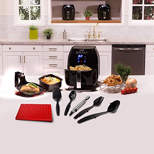 NuWave Brio Digital Air Fryer Ultimate Air Frying Package Includes 5 Piece Utensil Set