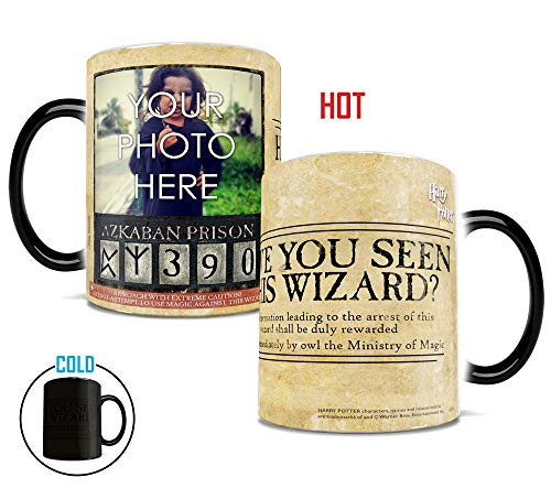 Morphing Mugs Harry Potter Ministry of Magic Personalized Azkaban Wanted Wizard Heat Reveal Ceramic Coffee Mug - 11 Ounces
