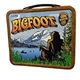 Bigfoot Sasquatch Cryptid Metal Retro Lunchbox
