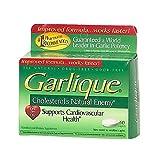 Garlique Cardiovascular Health Dietary Supplement Caplets, 60 Count