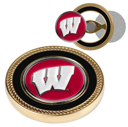 Set Poker Commemorative (Wisconsin Badgers NCAA Challenge Coin & Ball Markers)