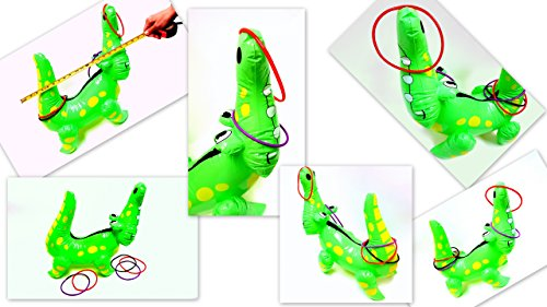 "Inflatable Alligator Ring Toss Game, 22"" Inches"