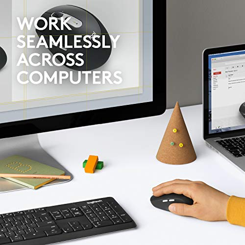 Logitech Wireless Mouse M585 Multi-Device with Flow Cross-Computer Control and File Sharing for PC and Mac, Graphite