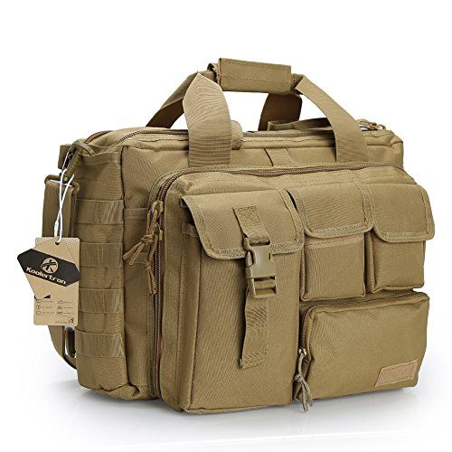 Koolertron Multifunction Mens Military Tactical Outdoor Nylon Shoulder Messenger Bag Handbags Briefcase Large Enough for 15.6