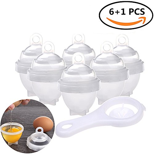 Elibeauty Egg Cooker with Egg Separator, BPA-FREE Eggs Cooker Hard & Soft Maker No Shell Egg Boil Hard Boiled (6+1 Pack)