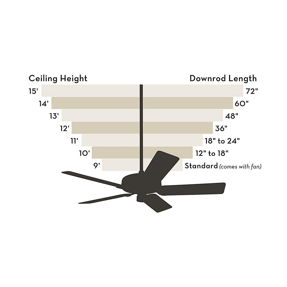 Brittany Bronze Hunter 28887 48 Ceiling Fan Extension Downrod