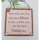 Not only are you the best Mum in the world you are the best Nana too wooden gift plaque by Craftworks