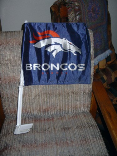 DENVER BRONCOS Double Sided Car Flags