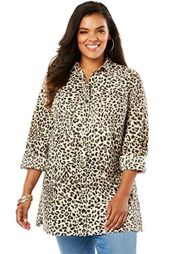 (Roamans Women's Plus Size Kate Tunic - Animal Print, 22 W)