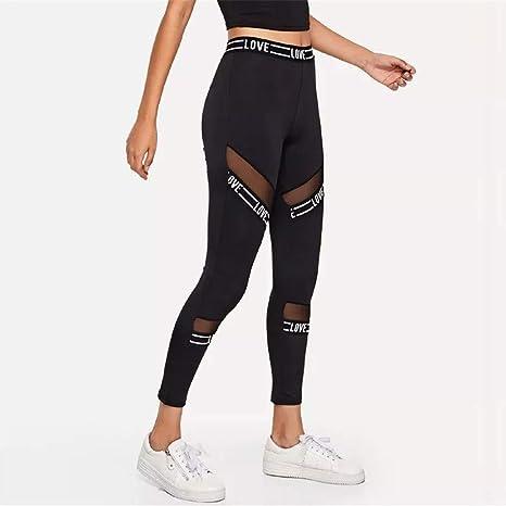 ... PAOLIAN Pantalones Running Fitness Moda Cintura Alta Jogger de Chandal Pantalones Ajustado Elástica Transparentes Señora: Amazon.es: Ropa y accesorios