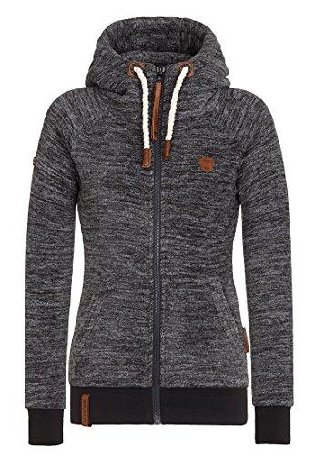 Naketano Women's Fleece Jacket Gigi Meroni Anthracite Melange, - Online Gigi