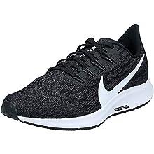 Nike Wmns Air Zoom Pegasus 36, Zapatillas de Running para Asfalto para Mujer, Multicolor (Black/White/Thunder Grey 004), 39 EU