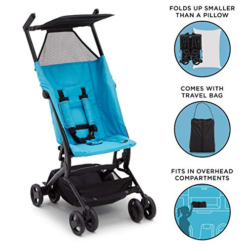 The Clutch Stroller by Delta Children | Great for On-the-Go Everyday Use | Aqua
