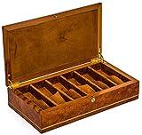 Bello Collezioni - Via Costantino Luxury Briar Wood Men's/Women's 6 Watch Box. Made in Italy