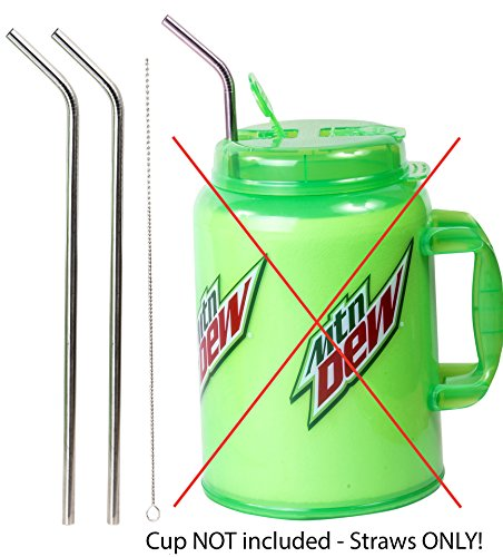 s Steel 100 oz Straw HUGE SUPER LONG Drinking Wide Insulated Whirley Travel Mug FOAM Truck Stop Cup ()