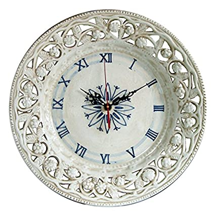 Reloj de pared muro pintado y hecho a mano de cerámica ARTÍSTICA de ...