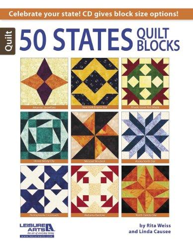50 States Quilt Blocks - Art Block Quilt
