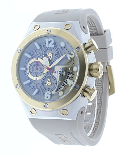 Technosport Capture 44mm Taupe Rubber Strap Chronograph GMT Unisex Watch TS-820-3