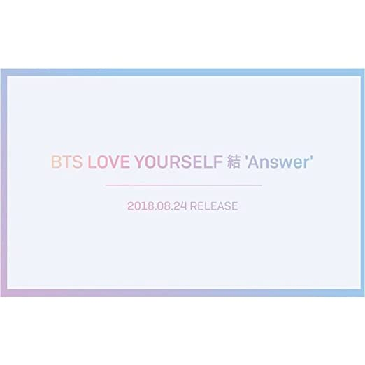 BTS [LOVE YOURSELF 結 ANSWER] Album Random  2CD+Poster+PhotoBook+M Book+Card+Sticker+Tracking Number K-POP SEALED