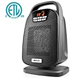 Appliances : Ceramic Space Heater, Indoor Digital Oscillating Personal Heater with Over-Heat and Tilt Protection, Carrying Handle, 1500/1000 Watt Shut Off and Turn on Timer, Quiet Operation for Home, Office