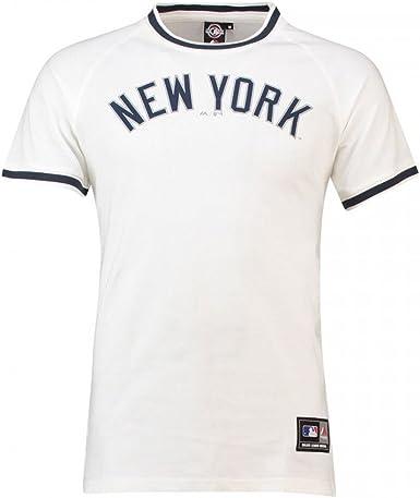 Majestic Camiseta MLB New York Yankees Freman Long Line Blanco/Azul Talla: M (Medium): Amazon.es: Ropa y accesorios