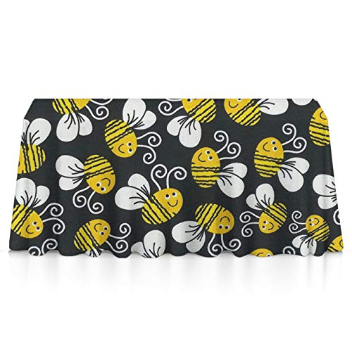 GOAEACH Bumblebee Square & Rectangular Tablecovers Polyester Waterproof