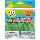 "Latex Balloons, 12"", Lime Green, 10 Count"