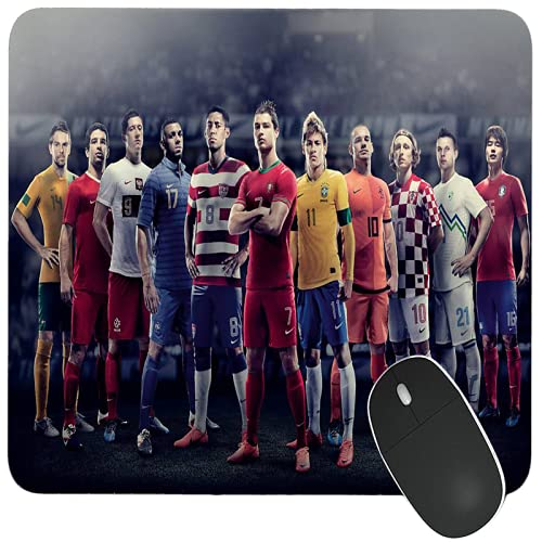 GoodCheer Footbal Team Soccer Lover -Dekstop Rubber Base Printed Game Mouse pad for Laptop Computer /Best for Gaming & Gamers