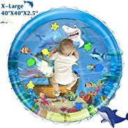 iHaHa Baby Tummy Time Water Play Mat, 40''X40'' Infant Inflatable Water Play Mat Toys for 3 6