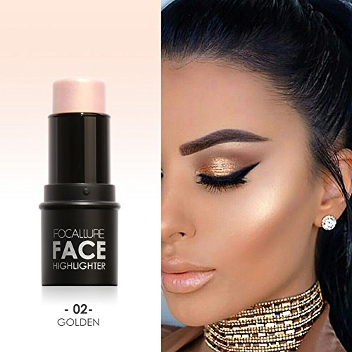 (Shouhengda Highlighter Stick Shimmer Cream Powder Waterproof Light Face Cosmetics A02)