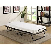 Primo International 27914 Uplifted Folding Cot Bed, Twin, Black