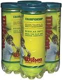 Wilson Championship Pelota de tenis de servicio regular, paquete de 4, amarillo