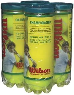 WILSON Championship Regular Duty Tennis Ball (4-Pack), Yellow Wilson - Tennis WRT100304