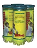 Wilson Championship Regular Duty Tennis Ball 4-Pack), Yellow Deal