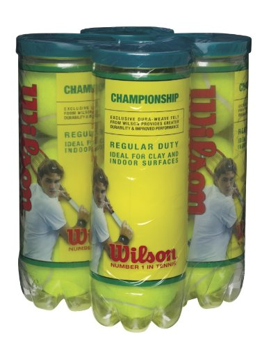 Wilson Championship Regular Duty Tennis Ball (four-Pack), Yellow – DiZiSports Store