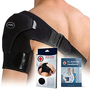Doctor Developed Shoulder Support/Shoulder Strap/Shoulder Brace & Handbook (Black) 16