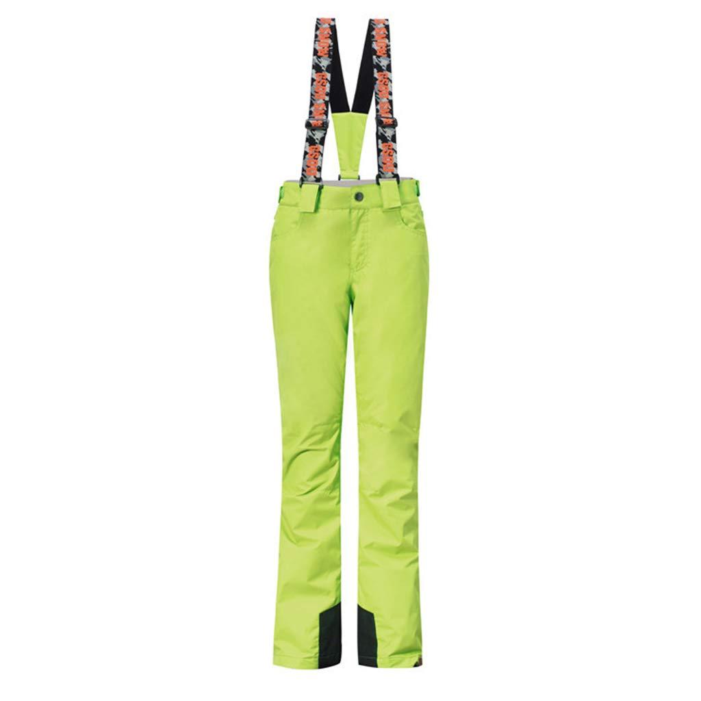 lumièrevert M JIBO De la Femme Coupe-Vent Garder au Chaud Pantalon de Ski Couleur Unie Multi-Poche Grande Taille aux Femmes De Plein air Sangle Pantalons de Ski