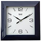Ajanta 7 inches Wall Clock for Home/Offces/Bedroom/Living Room/Kitchen (Step Movement, Black)