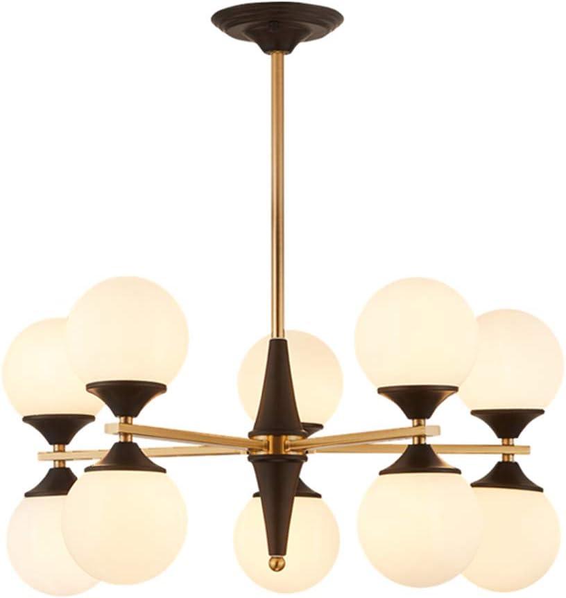 Post Modern glass Chandeliers Lightings Iron Luster