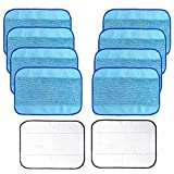 Jorllina 10-Pack Microfiber Mopping Cloths Compatible with iRobot Braava 380 380t 320 Mint 4200 4205 5200 5200C Vacuum Cleaner, 8 Wet + 2 Dry Washable & Reusable Mop Pads