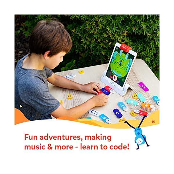 Osmo - Starter kit per iPad 3 giochi di apprendimento pratici - età 5-10+ - Imparare a codificare, codificare le basi e codificare puzzle - Base iPad inclusa, 901-00039 4 spesavip