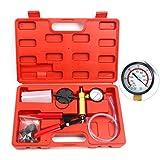 8milelake Handheld Vacuum Pump Tester Set & Brake Bleeder Bleeding Test Sets with Gauge 0-760mmHg & Adaptor