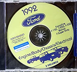 complete 1992 ford truck pickup van factory repair shop service rh amazon com 1980 Ford F-150 1992 Ford F-150 Flareside