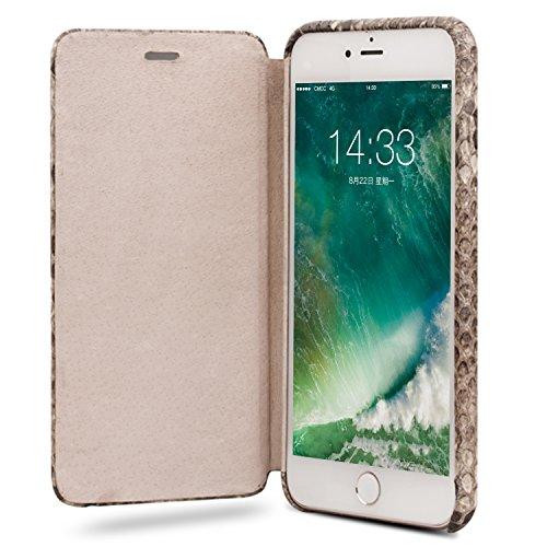 iPhone 8 Plus Case, iPhone 7 Plus Case, QIALINO Unique Style Genuine Leather Cover Flip Sleeve for Apple iPhone 8Plus / 7Plus by QIALINO (Image #6)