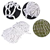 Delaman Football Soccer Net Full Size Sports Replacement Soccer Goal Post Net for Sports Match Training 8 x 4ft