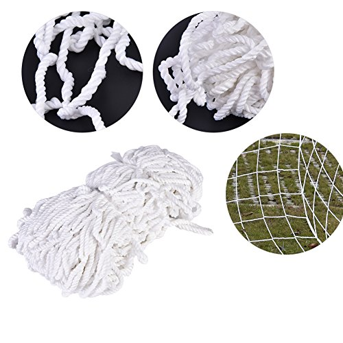 Delaman Football Soccer Net Full Size Sports Replacement Soccer Goal Post Net for Sports Match Training 8 x 4ft by Delaman