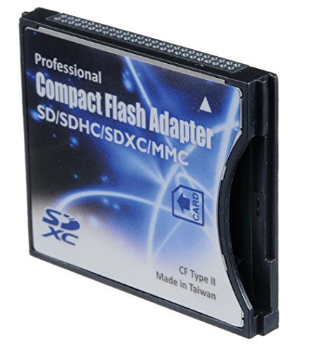 (SD/SDHC/MMC/Eye-Fi card to Compact Flash CF Type II Adapter for Professional DSLR Digital SLR Camera PDA Pocket PC)