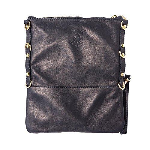 Florence Cuir Market Noir En 9603 Leather Pochette gZrwgx
