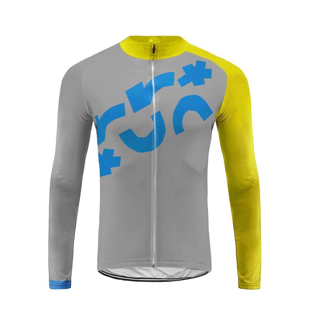 Uglyfrog Fahrradbekleidung Set Langarmtrikot Atmungsaktiv Schnell Trocken Männer Langarm Radfahren Jersey Mountain Biking Anzug Kleidung Trägerhose XS-4XL CXMX06F